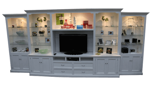 coastal white wall unit | coastal design furniture