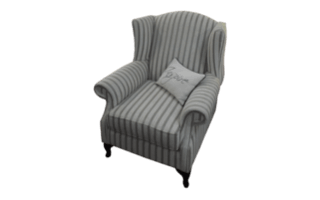Coastal Design Furniture - one seater chair stripes