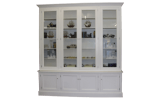 Coastal Design Furniture - 4 PANEL WHITE WALL UNIT