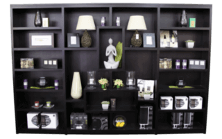 Coastal Design Furniture - Black Wall Display Unit