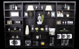 Coastal Design Furniture   Black Wall Display Unit