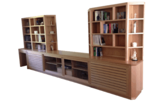 Coastal Design Furniture - Custom Made Natural Timber Wall Unit