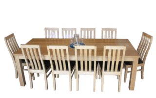 Coastal Design Furniture - Tassie Oak Dining Table