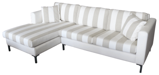 Coastal Design Furniture - Dave Three seater chaise stripes