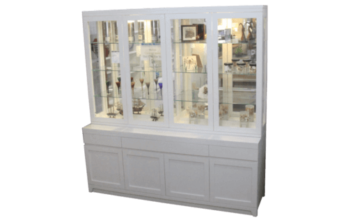 Bon Coastal Design Furniture   White 4 Door Display Unit