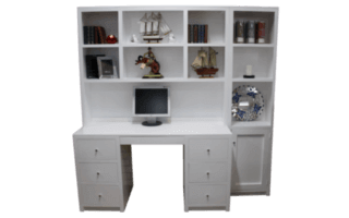 Coastal Design Furniture - White Desk Wall
