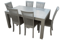 Coastal Design Furniture - White Wash Dining Table Set