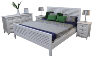 Coastal white king size bed -320x200