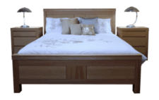 coastal design furniture - leo queen bed