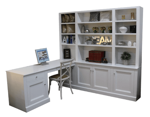 coastal design furniture - white corner study desk