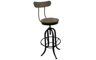 Coastal Design Furniture - Industrial Stool with Back