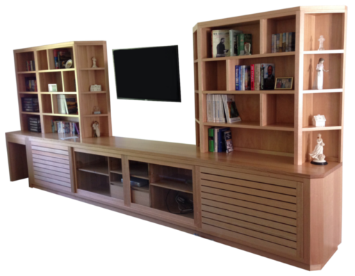 Coastal Design Furniture - Custom Made Natural Timber TV Wall Unit